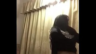 Desi College Girl in gym outfit stripping nude