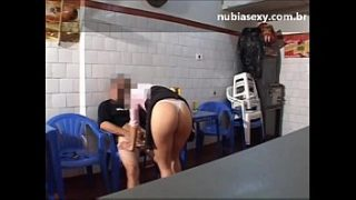 FELL ON THE NET! After drinking all of them, naughty from BH gets crazy with lust and fucks in the bar