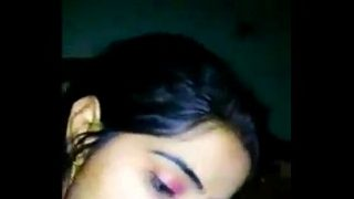 Hot newly married Indian wife sucking neighbor's cock cheating with hubby