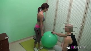 I fuck my personal trainer! He comes to my hose to teach me some intimate lessons