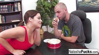 Natasha Nice is super excited to fuck her boss