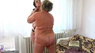 OldNanny Old fat mom is playing with teen and sextoy strapon sex