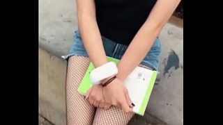 SEX for MONEY in the STREET to Linda Chava MEXICAN, 18 years old, I OFFER HER MONEY in the PLAZA To show me her Big TITS in PUBLIC, Samantha 18 Years PART 2
