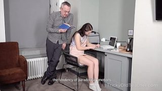Tricky Old Teacher – Hottie achieves her goal with the help of hard sex